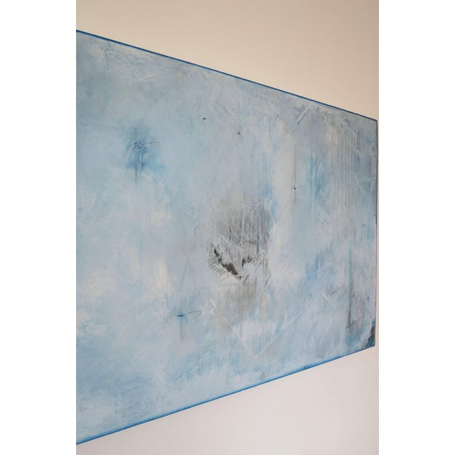 Blue Veil. Original Mixed Media Oil on Canvas by C. Damien Fox 2018 - Image 6 of 9