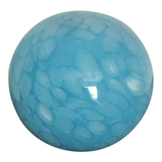 Turquoise Solid Art Glass Ball Paper Weight