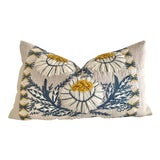 Image of Schumacher Wool Embroidered Pillow Cover 12x21 For Sale