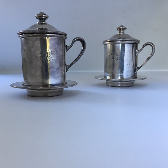 French Silverware Egoist Tea Cup Filter Set, 1850 For Sale - Image 11 of 11