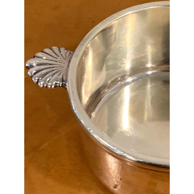 French Silverplated Handled Open Tureens/ Pot De Crème by Europe Felix - Set 6 For Sale In West Palm - Image 6 of 10