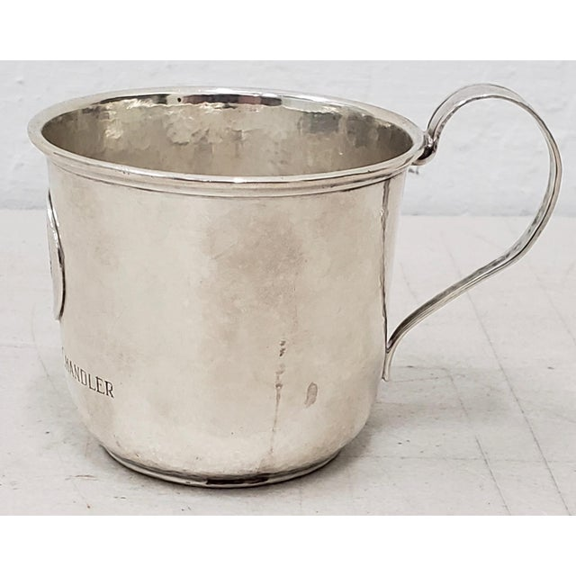Shreve & Co. Late 19th Century Hand Hammered Shreve & Co. Christening Cup C.1890s For Sale - Image 4 of 8