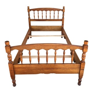 L. Stickley Cherry Valley Spindle Style Twin Bedframe For Sale