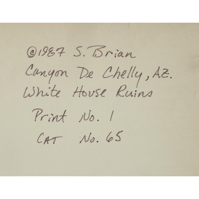 1980s 1980s Contemporary Photography of Canyon De Chelly White House Ruins by S Brian For Sale - Image 5 of 6