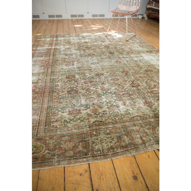 "Vintage Distressed Fragment Mahal Carpet - 7'2"" X 9'6"" For Sale - Image 10 of 12"