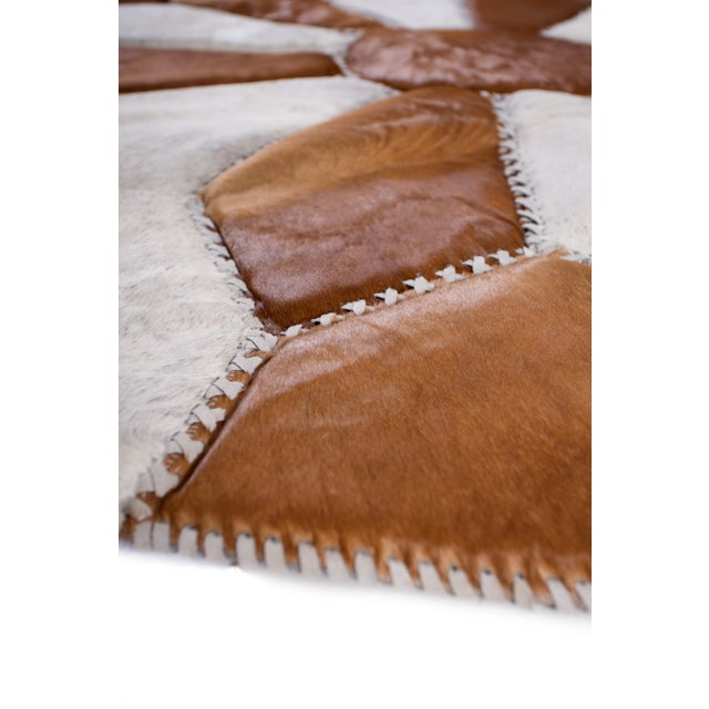 """Cowhide Patchwork Area Rug - 5'9"""" x 5'9"""" - Image 7 of 10"""
