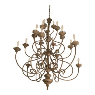 Large French Provincial Style Chandelier For Sale