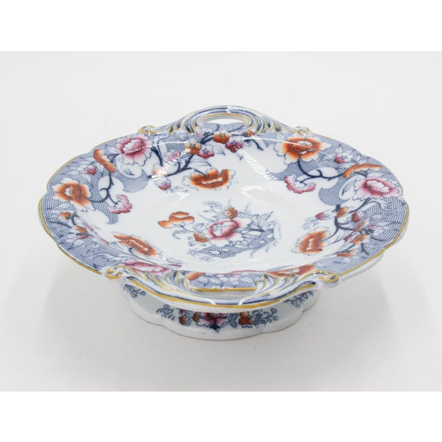 19th Century English Imari Porcelain Compote For Sale - Image 4 of 9