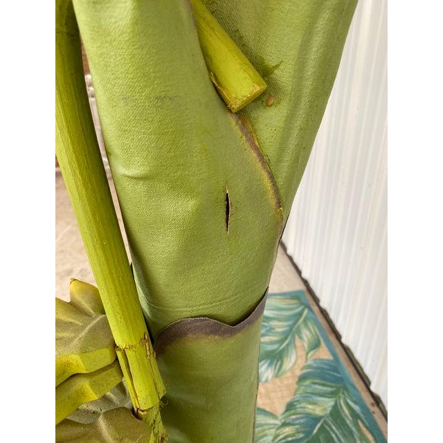 Canvas Vintage Coastal Regency Green Canvas Banana Palm Tree For Sale - Image 7 of 12