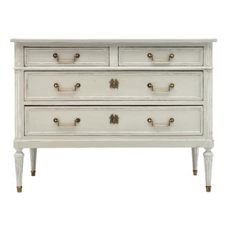 Louis XVI Style French Painted Chest For Sale