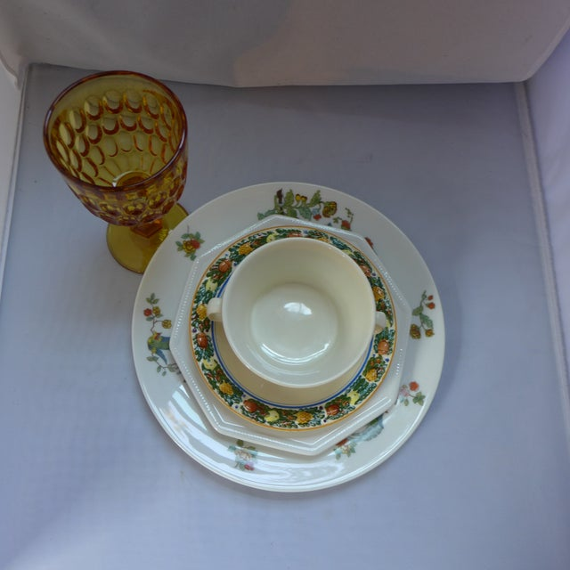 Mid-Century Modern Vintage Mismatched Lunch Setting - 5 Pieces For Sale - Image 3 of 6