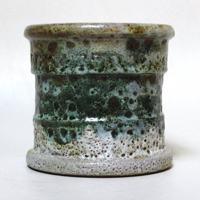 Arts & Crafts Raymor Mid-Century Italian Lava Glaze Vase For Sale - Image 3 of 8