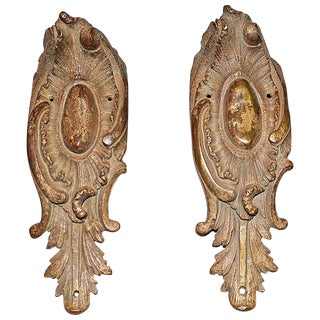 French Bronze Doré End Mounts - S/2 For Sale