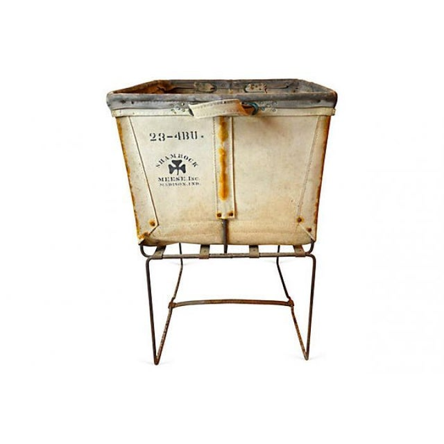 Large Industrial Canvas Laundry Bin - Image 3 of 6