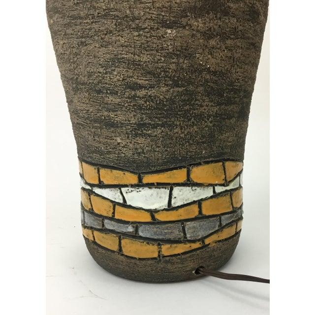 Bitossi Aldo Londi for Bitossi Italian Mid Century Pottery Lamp For Sale - Image 4 of 6