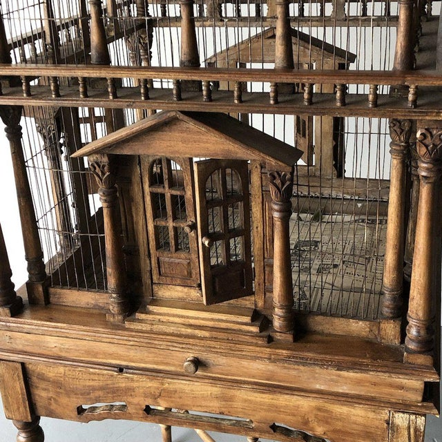Grand architectural birdcage on stand For Sale In West Palm - Image 6 of 8