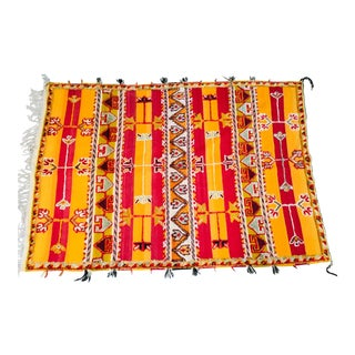 Moroccan Vintage Tribal Rug - 4′9″ × 6′11″ For Sale