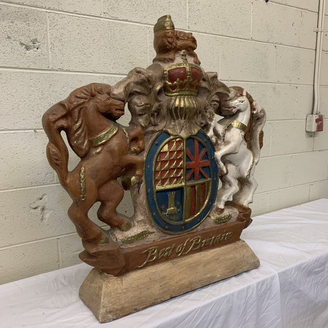 Large Scale British Coat of Arms Sculpture For Sale - Image 10 of 13