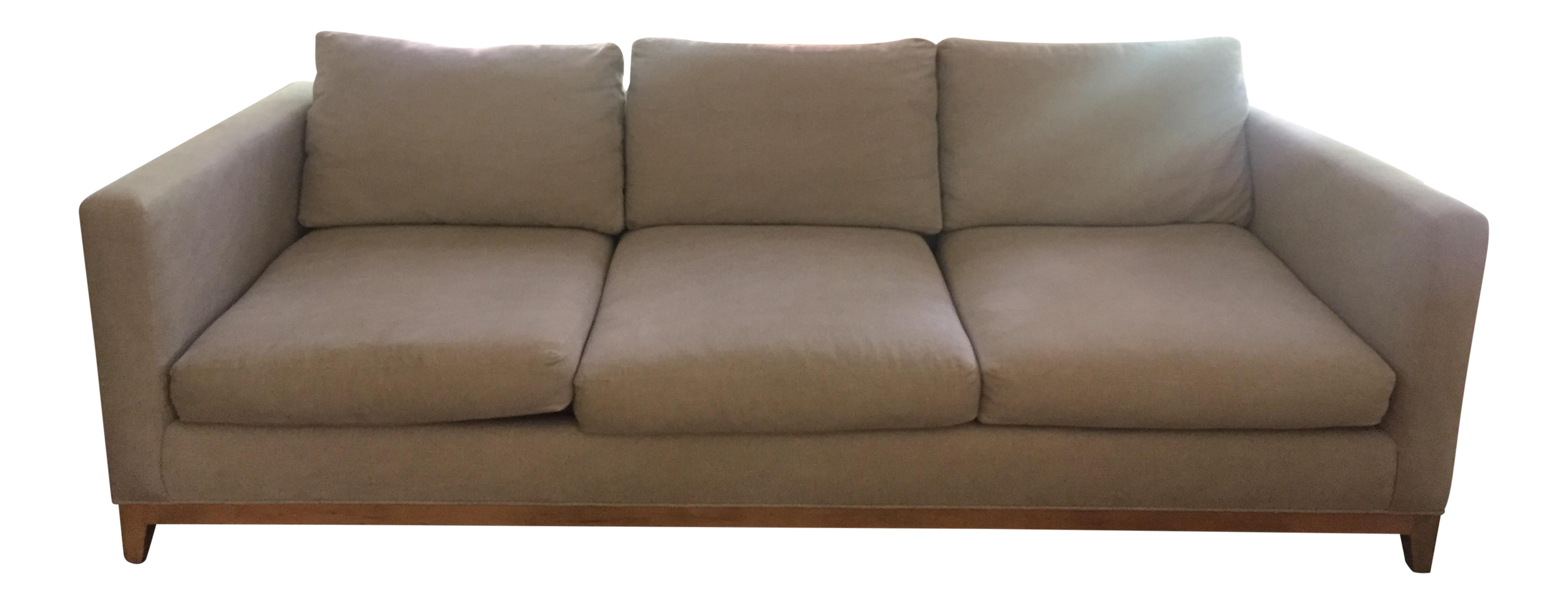Crate and barrel taraval sofa couch chairish