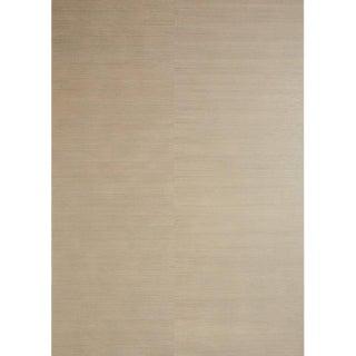 Sample, Maya Romanoff Raw Silk - Platinum Blush: Hand-Painted Vinyl Wallcovering For Sale