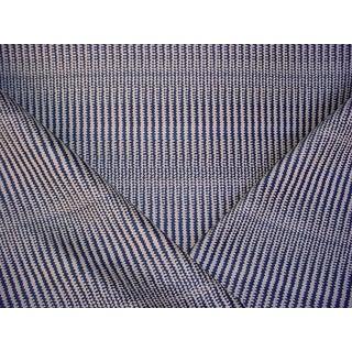 Ralph Lauren Cerillos Ikat Herringbone Navy Upholstery Fabric - 2 3/8 Yards For Sale