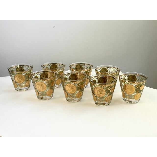 Culver Gold Liberty Coin Glasses - Set of 8 - Image 2 of 7
