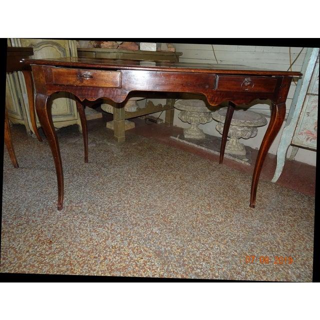 Louis XV Epoch Walnut Desk For Sale - Image 12 of 12