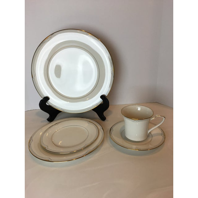 Gold Noritake Golden Cove Dinnerware - 64 Pc. Set For Sale - Image 8 of 11