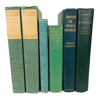Vintage Green Books on French History and Culture - Set of 6 For Sale