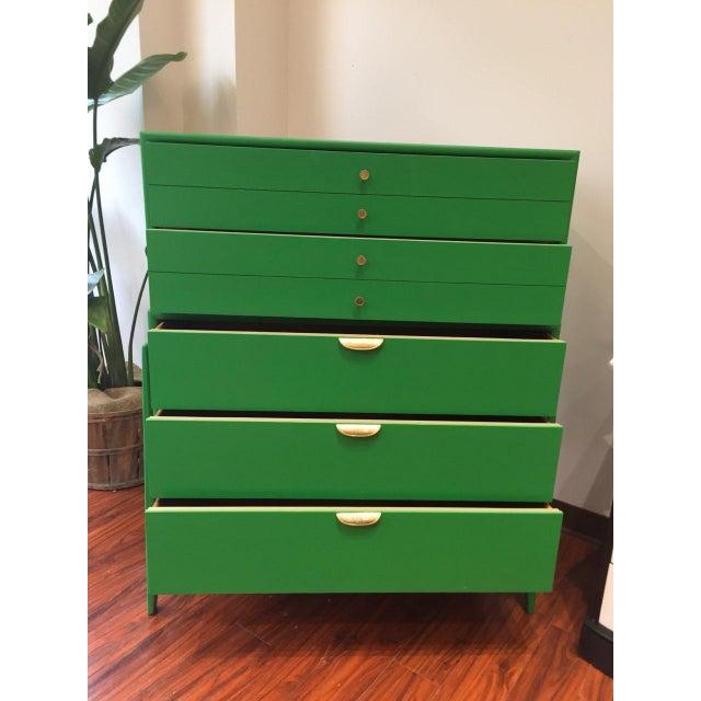 Green Mid-Century Modern Dresser For Sale In Washington DC - Image 6 of 9
