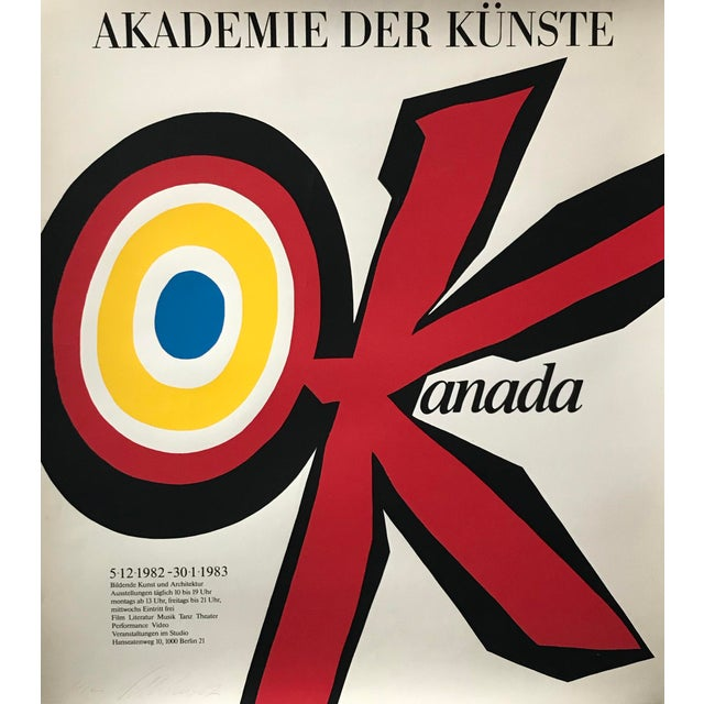 Abstract Original 1983 Vittorio Poster, Akademie Der Künste, Signed and Dated For Sale - Image 3 of 6