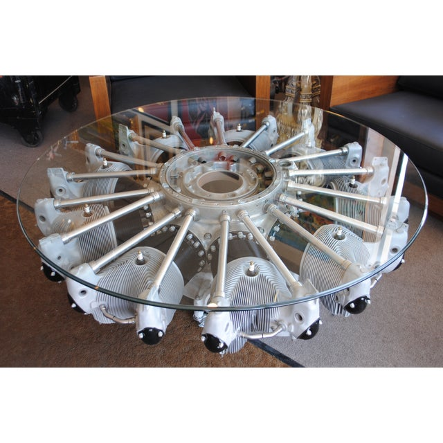 Nine Cylinder Radial Aircraft Engine Coffee Table | Chairish