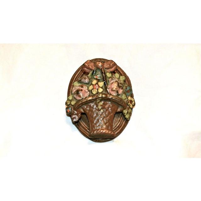Brown Flower Basket Door Knocker For Sale - Image 8 of 8