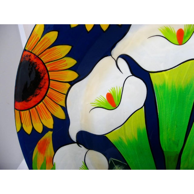 Rustic Large Mexican Ceramic Plate For Sale - Image 3 of 7