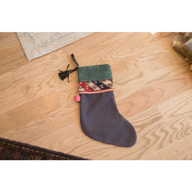 2010s Green Rug Fragment Stocking For Sale - Image 5 of 7