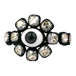 "Rodarte Jewelled Grey ""Eye"" Cuff For Sale"