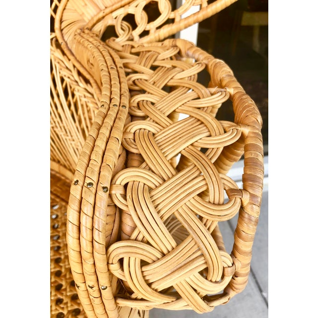 Vintage Rattan Peacock Chair For Sale - Image 10 of 11