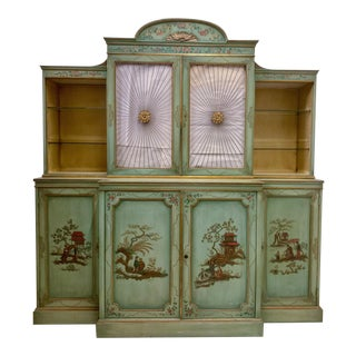 Chinoiserie Cabinet With Sunburst Doors For Sale