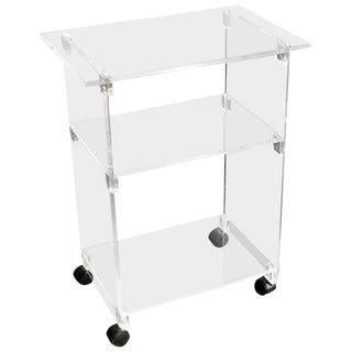 Lucite Bar Cart on Wheels