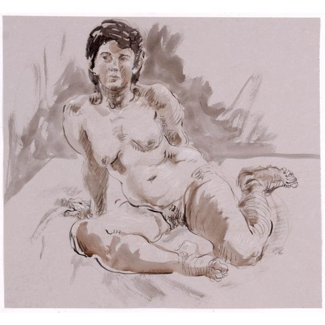 Seated Figure Study by Lois Davis - Image 2 of 4