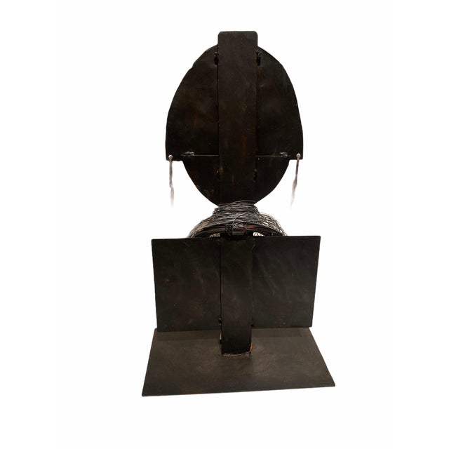 Bronze Late 20th Century Modernist Style African Queen Metal Sculpture For Sale - Image 8 of 11