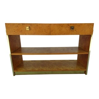 Founders Furniture Burl Wood Server or Sideboard For Sale