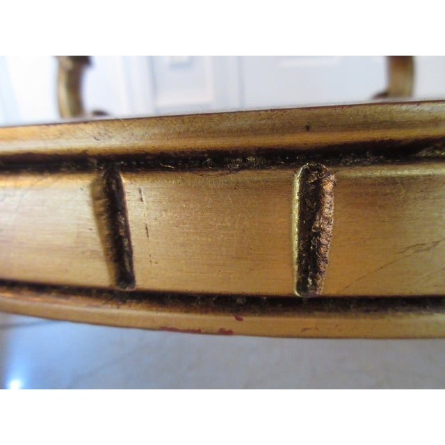 Italian Gold & Marble Coffee Table - Image 9 of 11