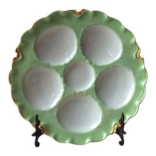 Early 20th Century Antique French Porcelain Oyster Plate For Sale