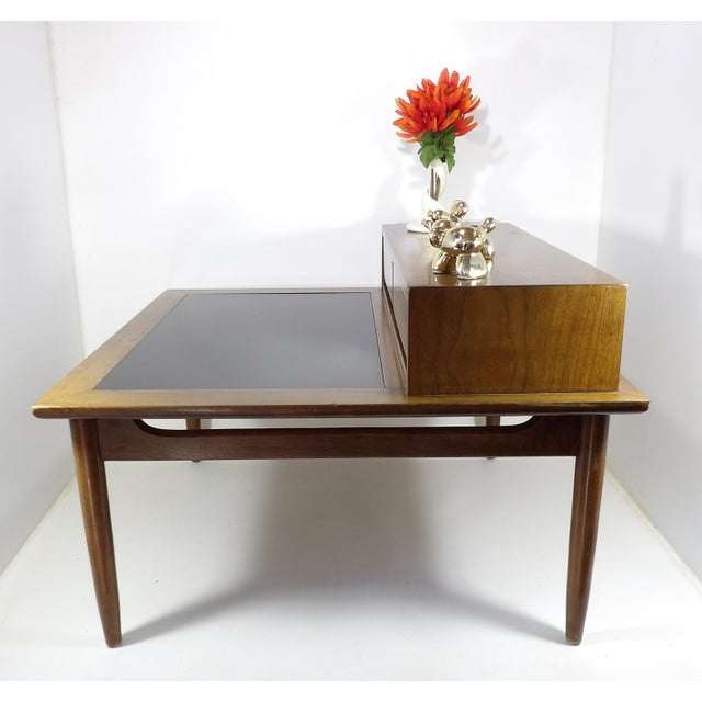 Wood 1950s Mid Century Modern American of Martinsville Sectional Sofa Divider Table For Sale - Image 7 of 12