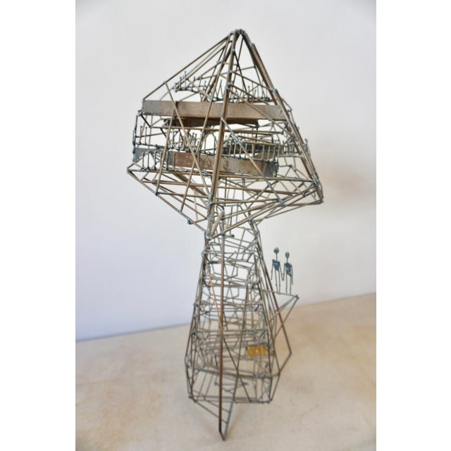 Abstract Abstact Wire Sculpture by Guy Pullen For Sale - Image 3 of 9