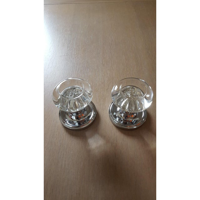 Modern Nostalgic Warehouse Glass Dummy Door Knob- a Pair For Sale - Image 4 of 4