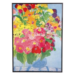 """Late 20th Century Walasse Ting's """"Flowers"""" Giclée For Sale"""