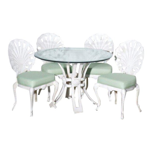 Brown Jordon Shell Back Grotto Patio Dining Set For Sale