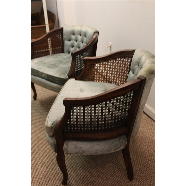 Cane & Tufted-Back Ladies Chairs - A Pair - Image 4 of 10
